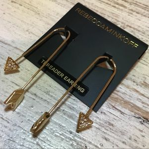 Rebecca Minkoff arrow threader earrings